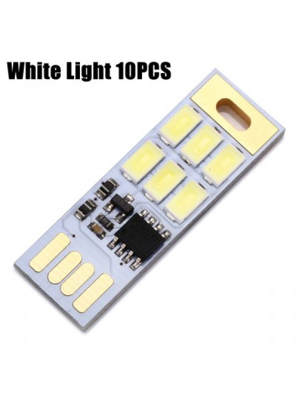 1W 75 Lumens White Light Touch USB Lamp Module 10PCS