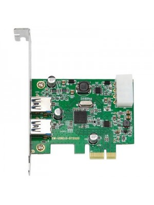 DIEWU 2 Ports USB 3.0 to PCI Express Self Powered Controller Ext