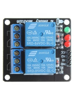 2 Channel 5V Relay Expansion Board Module with Optical Coupler